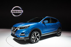 New 2018 facelift design of Nissan Qashqai at 87th Geneva International Motor Show in Geneva Switzerland 2017