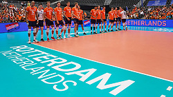 09-08-2019 NED: FIVB Tokyo Volleyball Qualification 2019 / Netherlands, - Korea, Rotterdam<br /> First match pool B in hall Ahoy between Netherlands - Korea for one Olympic ticket / Team Netherlands