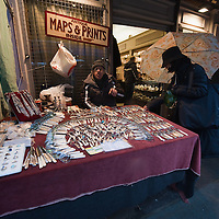 LONDON, ENGLAND - JANUARY 16:  One of the stalls at Portobello Market on January 16, 2010 in London, England. Portobello traders fear for the Market's future after Lipka's Antiques Arcade, where more than 150 traders had their stalls, was redeveloped to accommodate a large High street chain store.  (Photo by Marco Secchi/Getty Images)
