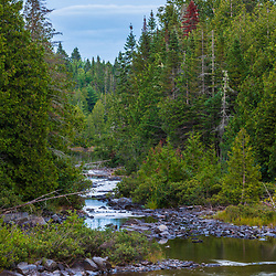 The Red River in Aroostook County, Maine. Deboullie Public Reserve Land.
