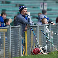 Kilmaley's Manager Conor Clancy in the stand during the game