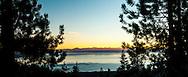 Sunset over Lake Tahoe, Nevada / California