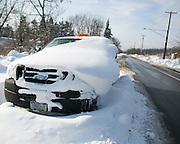 Local authorities said that several hundred vehicles were likely abandoned on roadways near Buffalo, New York, USA on Wednesday, November 19, 2014. Up to six feet of snow fell on the region Tuesday, stranding dozens of motorists on roadways and causing at least six deaths.