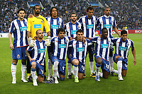 20090415: PORTO, PORTUGAL - FC Porto vs Manchester United: Champions League 2008/2009 – Quarter Finals – 2nd leg. In picture: FC Porto team. PHOTO: Manuel Azevedo/CITYFILES