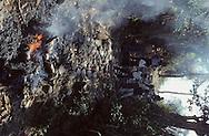 El Salvador. After an attack in the town of San Sebastian , townspeople burn the body of a member of the militia who was killed by the guerilla       /  Apres une attaque sur la ville de san sebastian, les citadins brulenet le corps d un milicien qui avait ete tue par les guerilleros    Salvador   /  SALV34032 2