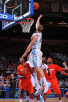 North Carolina forward Travis Wear #43 scores during the 2K Sports Classic at Madison Square Garden. (Mandatory Credit: Delane B. Rouse/Delane Rouse Photography)