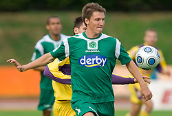 David Kasnik of Olimpija at 13th Round of Prva Liga football match between NK Olimpija and Maribor, on October 17, 2009, in ZAK Stadium, Ljubljana. Maribor won 1:0. (Photo by Vid Ponikvar / Sportida)