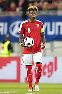 David Alaba of Austria during the International Friendly match at Worthersee Stadion, Klagenfurt, Austria.<br /> Picture by EXPA Pictures/Focus Images Ltd 07814482222<br /> 31/05/2016<br /> ***UK &amp; IRELAND ONLY***<br /> EXPA-GRO-160531-5358.jpg