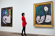 """UNITED KINGDOM, London: 06 March 2018 A visitor takes a look at Picasso's """"Nude, Green Leaves and Bust"""" (1932) at The Tate Modern's new exhibition 'Picasso 1932: Love, Fame, Tragedy'. The exhibition, which consists of a wide range of Picasso works, runs from 8th March - 9 September 2018.  Rick Findler / Story Picture Agency"""