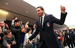 Matteo Darmian of Italy greets fans on arrival at the Etihad Stadium - Mandatory by-line: Matt McNulty/JMP - 23/03/2018 - FOOTBALL - Etihad Stadium - Manchester, England - Argentina v Italy - International Friendly