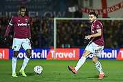 West Ham United midfielder Robert Snodgrass (11) in action during the The FA Cup fourth round match between AFC Wimbledon and West Ham United at the Cherry Red Records Stadium, Kingston, England on 26 January 2019.