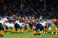 KELOWNA, BC - AUGUST 3:  The Okanagan Sun line up against the Kamloops Broncos at the Apple Bowl on August 3, 2019 in Kelowna, Canada. (Photo by Marissa Baecker/Shoot the Breeze)