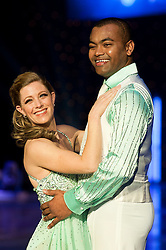 Dancing on Ice Photocall Sheffield Motorpoint Arena .Frankie Poultney and Johnson Beharry VC..7 April 2011.Images © Paul David Drabble