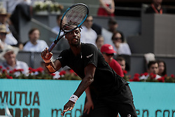 May 9, 2019 - Madrid, Madrid, Spain - Gael Monfils seen in action during the Mutua Madrid Open Masters match on day 7 at Caja Magica in Madrid. (Credit Image: © Legan P. Mace/SOPA Images via ZUMA Wire)