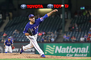 March 26, 2018 - Arlington, TX, U.S. - ARLINGTON, TX - MARCH 26: Texas Rangers starting pitcher Matt Moore (55) throws during the exhibition game between the Cincinnati Reds and Texas Rangers on March 26, 2018 at Globe Life Park in Arlington, TX. (Photo by Andrew Dieb/Icon Sportswire) (Credit Image: © Andrew Dieb/Icon SMI via ZUMA Press)
