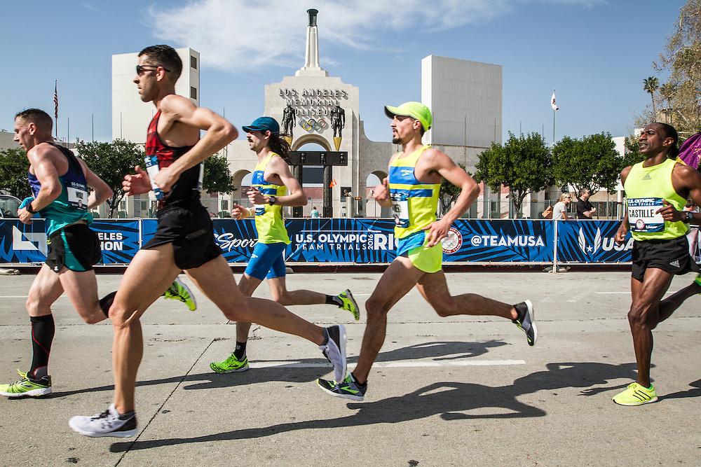 USA Olympic Team Trials Marathon 2016, LA Coliseum