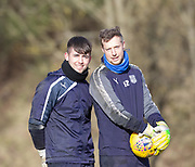Dundee goalkeepers Kyle Gourley and Elliott Parish - Dundee FC training , Picture by David Young -