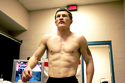 """Exclusive behind the scenes images of Ricky """"The Hitman"""" Hatton on fight night in his locker room before taking on Floyd Mayweather Jnr. MGM Grand, Las Vegas, Nevada, December 2007."""