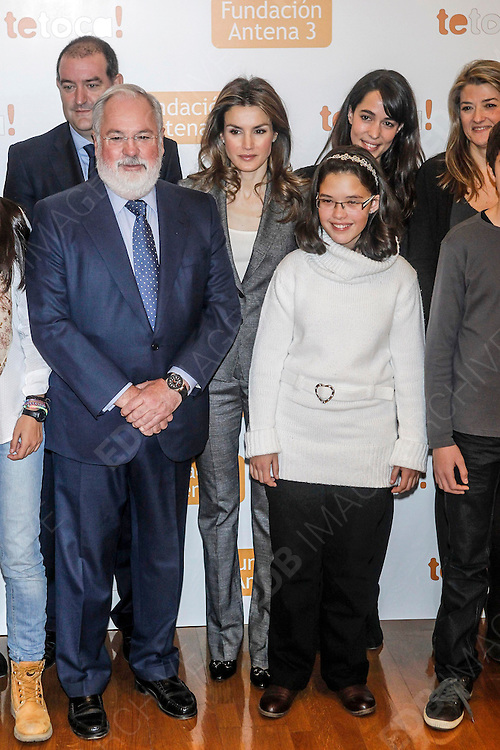 03.DECEMBER.2012. MADRID<br /> <br /> PRINCESS LETIZIA ATTENDED A METTING ORGANISED BY ANTENA 3 FOUNDATION WITH THE MINISTRY OF ENVIRONMENT AND A GROUP OF YOUNG PARTICIPANTS IN THE INITIATIVE 'TE TOCA' AT THE MINISTRY OF ENVIRONMENT, MADRID<br /> <br /> BYLINE: EDBIMAGEARCHIVE.CO.UK<br /> <br /> *THIS IMAGE IS STRICTLY FOR UK NEWSPAPERS AND MAGAZINES ONLY*<br /> *FOR WORLD WIDE SALES AND WEB USE PLEASE CONTACT EDBIMAGEARCHIVE - 0208 954 5968*
