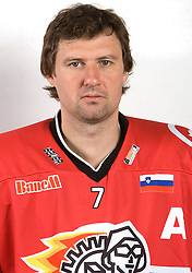 Jan Golubovski at HK Acroni Jesenice Team roaster for 2009-2010 season,  on September 03, 2009, in Arena Podmezaklja, Jesenice, Slovenia.  (Photo by Vid Ponikvar / Sportida)
