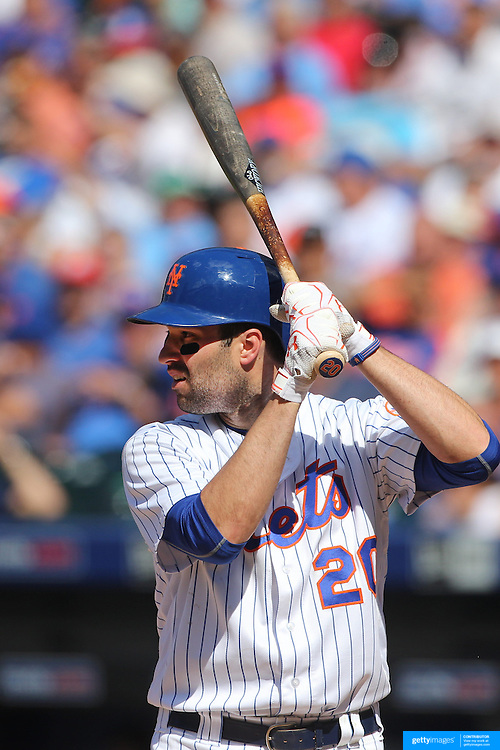NEW YORK, NEW YORK - June 22: Neil Walker #20 of the New York Mets batting during the Kansas City Royals Vs New York Mets regular season MLB game at Citi Field on June 22, 2016 in New York City. (Photo by Tim Clayton/Corbis via Getty Images)