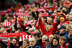 Liverpool fans hold up scarves  - Mandatory by-line: Matt McNulty/JMP - 28/10/2017 - FOOTBALL - Anfield - Liverpool, England - Liverpool v Huddersfield Town - Premier League