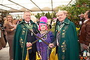 ZANDRA RHODES; MEMBERS OF THE ORDER OF THE GOLDEN SABRE, PRESS PREVIEW. The RHS Chelsea Flower Show 2011. The Royal Hospital grounds. Chelsea. London. 23 May 2011. <br /> <br />  , -DO NOT ARCHIVE-© Copyright Photograph by Dafydd Jones. 248 Clapham Rd. London SW9 0PZ. Tel 0207 820 0771. www.dafjones.com.