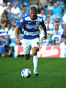 Paul Konchesky (QPR defender) running down the wing during the Sky Bet Championship match between Queens Park Rangers and Rotherham United at the Loftus Road Stadium, London, England on 22 August 2015. Photo by Matthew Redman.