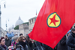 February 5, 2018 - Rome, Italy - Demonstration in the gardens of Castel Sant'Angelo against the visit of the President of Turkey Recep Tayyip Erdogan to Rome (Credit Image: © Matteo Nardone/Pacific Press via ZUMA Wire)