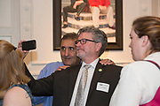 Pete Souza takes a selfie with Tim Goheen, the director of the School of Visual Communication, at the end of the President's Reception in Chaddock Alumni Room on September 19, 2017.