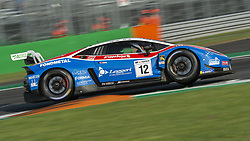September 23, 2018 - Ombra Racing (Gattuso/Fioravanti) aggressive on the first chicane's curb during the second qualifying session of International GT Open 2018 in Monza. (Credit Image: © Riccardo Righetti/ZUMA Wire)