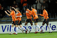 FOOTBALL - FRENCH CHAMPIONSHIP 2009/2010 - L1 - FC LORIENT v OLYMPIQUE LYONNAIS - 20/01/2010 - PHOTO PASCAL ALLEE / DPPI - JOY LORIENT AFTER PIERRE DUCASSE 'S GOAL