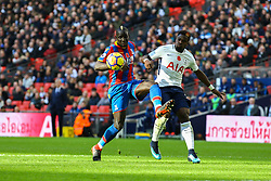 Mamadou Sakho of Crystal Palace looks to receive the ball under pressure from Serge Aurier of Tottenham Hotspur - Mandatory by-line: Jason Brown/JMP - 05/11/2017 - FOOTBALL - Wembley Stadium - London, England - Tottenham Hotspur v Crystal Palace - Premier League