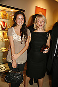Ines de Bordas and Ophelie Renouard, Treasures From The Gem Palace, Private view of gem stones created by a family of Indian court jewellers from Jaipur (the Kasliwals). Somerset House, London, WC2, 28 September 2006. www.somerset-house.org.uk-DO NOT ARCHIVE-© Copyright Photograph by Dafydd Jones 66 Stockwell Park Rd. London SW9 0DA Tel 020 7733 0108 www.dafjones.com