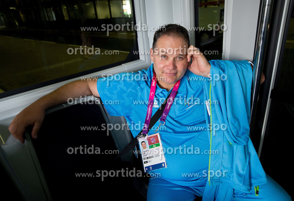 Simon Bozic of Team Slovenia at Airport in Frankfurt during way back to Airport Joze Pucnik after the London 2012 Paralympic Games on September 10, 2012, in Frankfurt, Germany. (Photo by Vid Ponikvar / Sportida.com)