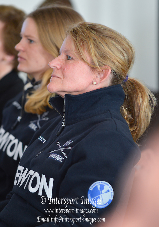 London. UNITED KINGDOM.  Oxford Women's Chief Coach, Christine WILSON, Varsity. Crew Announcement and Weigh-In for the 159th BNY Mellon Boat Race Monday  04/03/2013     [Mandatory Credit. Peter Spurrier/Intersport Images]..As the Men and Women's Blue Boats weigh-in together for the first time.