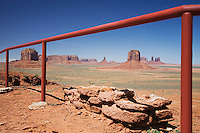 USA Arizona railing in Monument Valley