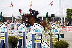 KLEIS Thomas (GER), Chades of Blue<br /> Hagen - Horses and Dreams meets the Royal Kingdom of Jordan 2018<br /> Grosser Preis der DKB Qualifikation DKB-Riders Tour<br /> 30 April 2018<br /> www.sportfotos-lafrentz.de/Stefan Lafrentz
