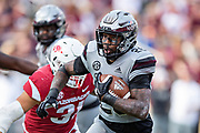 STARKVILLE, MS - NOVEMBER 17:  Aeris Williams #26 of the Mississippi State Bulldogs runs the ball during a game against the Arkansas Razorbacks at Davis Wade Stadium on November 17, 2018 in Starkville, Mississippi.  The Bulldogs defeated the Razorbacks 52-6.  (Photo by Wesley Hitt/Getty Images) *** Local Caption *** Aeris Williams