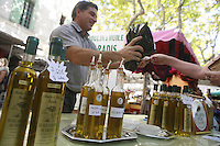 The Saturday market in Uzès, Languedoc, France..October 6, 2007..Photo by Owen Franken for the NY Times...Assignment ID: 30049869AThe Saturday market in Uzes, Languedoc, France..olive oil tasting..October 6, 2007..Photo by Owen Franken for the NY Times...Assignment ID: 30049869A