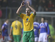 Carlisle - Saturday November 28th, 2009: Gary Doherty of Norwich City applauds the fans after the final whistle during the FA Cup second round match at Brunton Park, Carlisle. (Pic by Andrew Stunell/Focus Images)..