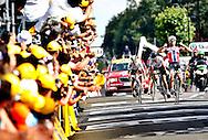 ARENBERG 20100607. Thor Hushovd jubler etter seier på den tredje Tour de France etappen..Foto: Daniel Sannum Lauten/VG
