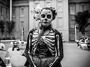Maru Montero Dance Company member at Day of the Dead celebration at the National Portrait Gallery in Washington, DC