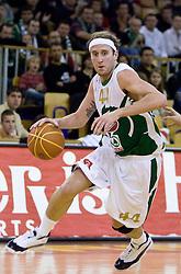 Matt Walsh (44) of Olimpija at basketball match of 4th Round of NLB League between KK Union Olimpija and KK Crvena zvezda,  on October 24, 2009, Arena Tivoli, Ljubljana, Slovenia.  Union Olimpija won 94:76.  (Photo by Vid Ponikvar / Sportida)