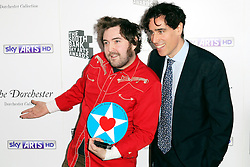 © Licensed to London News Pictures. 27/01/2014, UK. Nick Helm; Stephen Mangan, The South Bank Sky Arts Awards, Dorchester Hotel, London UK, 27 January 2014, Photo by Richard GoldschmidtJodie