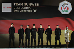 February 23, 2019 - Abu Dhabi, United Arab Emirates - Team Sunweb from Germany, during the Team Presentation, at the opening ceremony of the 1st UAE Tour, inside Louvre Abu Dhabi museum..On Saturday, February 23, 2019, Abu Dhabi, United Arab Emirates. (Credit Image: © Artur Widak/NurPhoto via ZUMA Press)