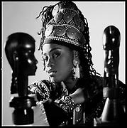 Caron Wheeler of Soul II Soul, London, UK, 1990s.