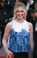 Sophie Flack, at the Two Days, One Night (Deux Jours, Une Nuit) gala screening red carpet at the 67th Cannes Film Festival France. Tuesday 20th May 2014 in Cannes Film Festival, France.