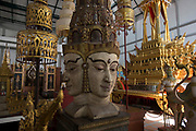 Intricate models and statues exhibited at the Bangkok National Museum.<br /> <br /> The area around the Royal Palace in Bangkok is busy in preparation for the Royal Cremation Ceremony that will take place between 25-29 October 2017. It will be the final tribute and farewell to the revered His Majesty King Bhumibol Adulyadej (Rama IX) who died on the 13 October 2016 aged 89.