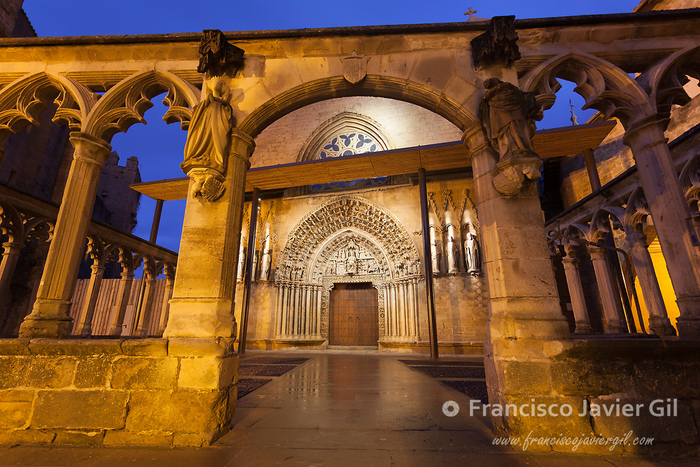 Church in Olite, Navarre, Spain